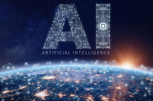 Artificial Intelligence technology concept, AI circuit board, mi